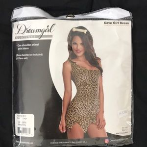NWT cheetah dress one shoulder